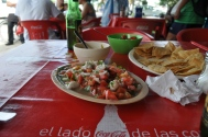 ceviche at a taco spot in town